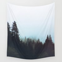 washington Wall Tapestries featuring Washington Woodlands  by Leah Flores