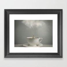 Raining Tea Framed Art Print
