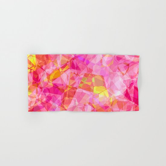 Rose triangles I - Modern abstract pink pattern Hand & Bath Towel