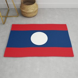 laos country flag Rug