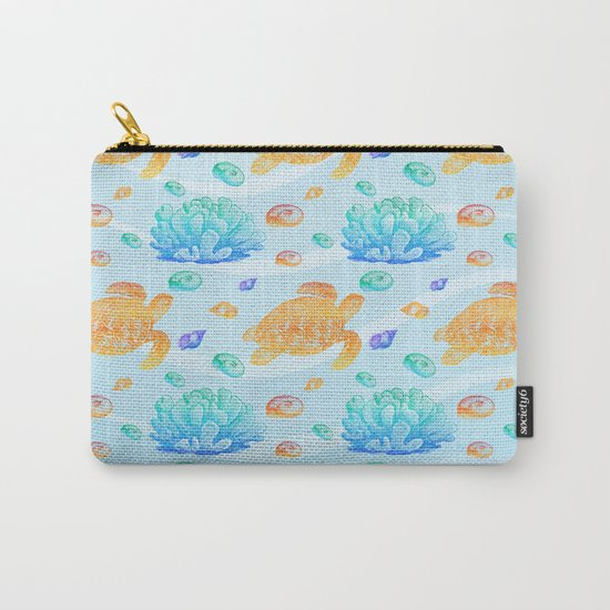 Marine Pattern 10 Carry-All Pouch