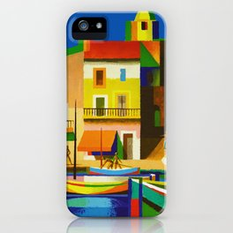 Vintage French Riviera Travel Ad iPhone Case
