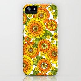 Groovy flower bunch iPhone Case