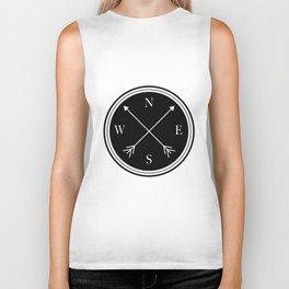 Directions \\ Abstract Compass Design Biker Tank