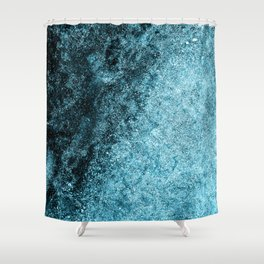 Frost Blue Ice Shower Curtain