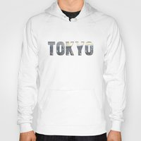 tokyo Hoodies featuring Tokyo by Bonnie J. Breedlove