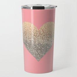 GOLD HEART CORAL Travel Mug