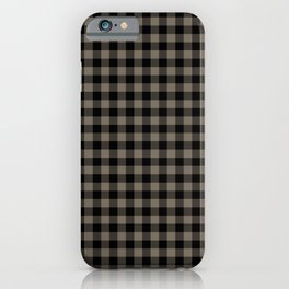 Classic Sandstone Brown Country Cottage Summer Buffalo Plaid iPhone Case