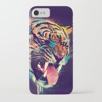 power iPhone & iPod Cases featuring FEROCIOUS TIGER by dzeri29
