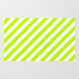 Diagonal Stripes (Lime/White) Rug