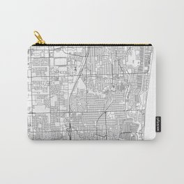 Fort Lauderdale White Map Carry-All Pouch