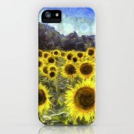 Sunflower Fields Of Dreams Art iPhone Case