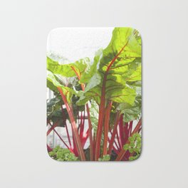 Swiss Chard in Color Bath Mat