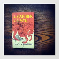 catcher in the rye Canvas Prints featuring The Catcher In The Rye by Anano