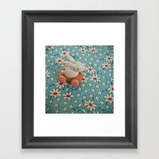 Bunny Blues Framed Art Print