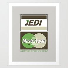 Brand Wars: Jedi Master Yoda Art Print