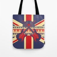 british Tote Bags featuring British Rock by Ornaart