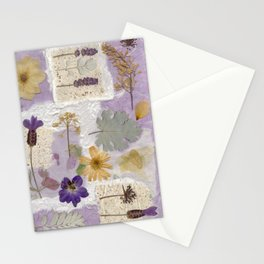 Lavender Collage Stationery Cards