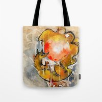 sun and moon Tote Bags featuring Sun & Moon by Rubis Firenos