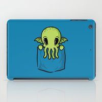 pocket iPad Cases featuring Pocket Cthulhu by Mike Handy Art