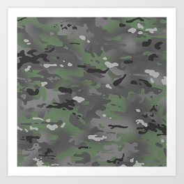 Camouflage: Arctic Green and Grey Art Print