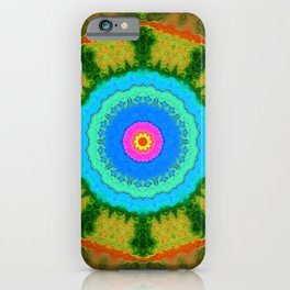 Mirror Lab Mandala 13 - Green iPhone Case