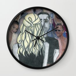 Alone in a crowd Wall Clock