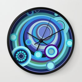 Blue/Purple Mosaic Crop Circle Wall Clock