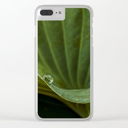 a drop on green Clear iPhone Case