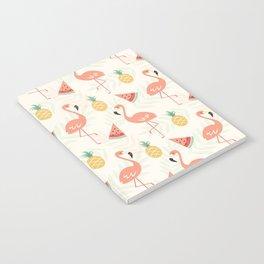 Watermelon Flamingo Pineapple Notebook