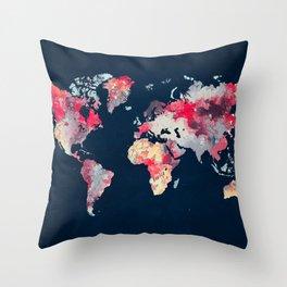 world map 69 Throw Pillow