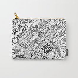 Cleveland Ohio Map Carry-All Pouch