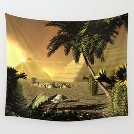 Pyramid in the sunet Wall Tapestry