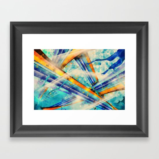 ABSTRACT - Vintage Version Framed Art Print