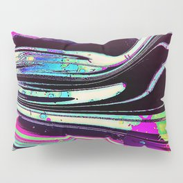 Lines and spots of color abstract digital painting Pillow Sham