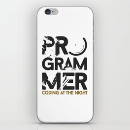 Programmer : Coding at the night iPhone Skin