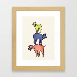 3 Billy Goats Up Framed Art Print