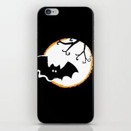 Bat and Moon iPhone Skin