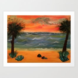 Beachside Serenity Art Print