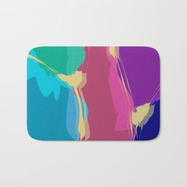 Jelly Candy With Gold Sauce Abstract Art Bath Mat