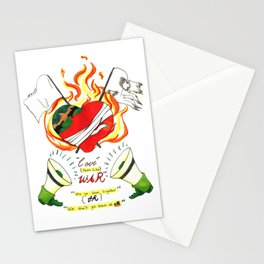 Love like WAR Stationery Cards