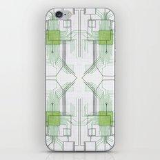 Circuit board green repeat iPhone & iPod Skin