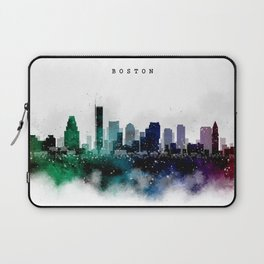 Boston Watercolor Skyline Laptop Sleeve