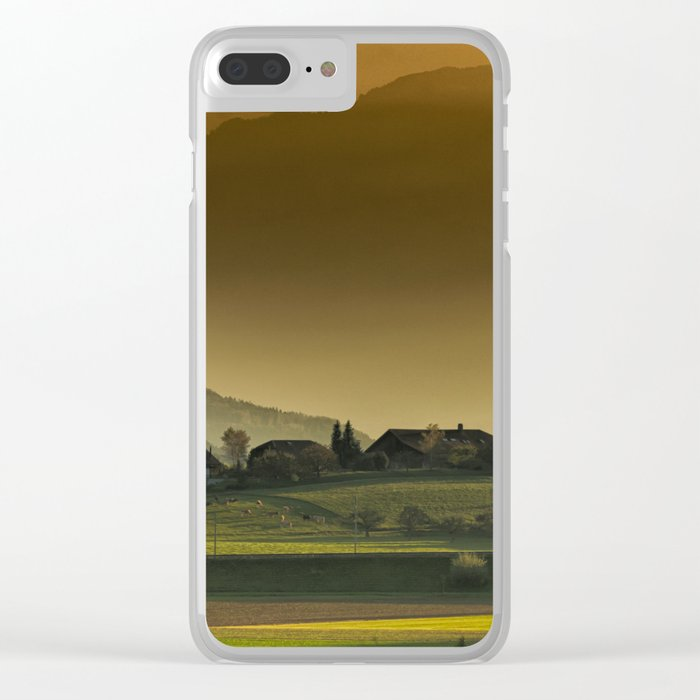 autumn landscape Clear iPhone Case