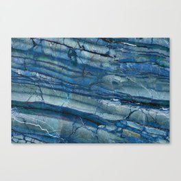 Ocean Depths Blue Marble Canvas Print
