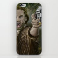 rick grimes iPhone & iPod Skins featuring Rick Grimes by Paulo Fodra