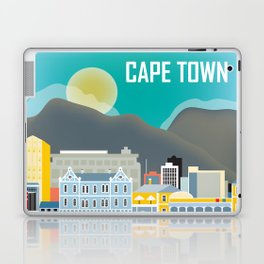 Cape Town, South Africa - Skyline Illustration by Loose Petals Laptop & iPad Skin