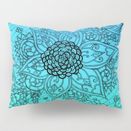 Flower Zen: Blue-Green Fade Pillow Sham