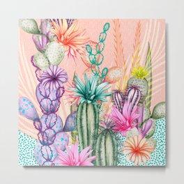 Cacti Love Metal Print
