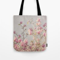 magnolia Tote Bags featuring Magnolia  by Pure Nature Photos